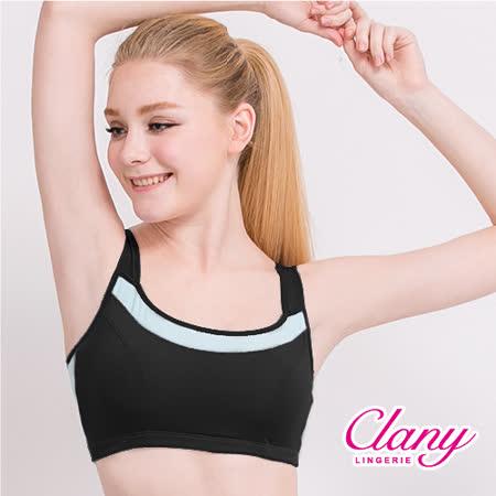 【可蘭霓Clany】降溫涼感透氣M-XL運動內衣 神秘黑 6677-63