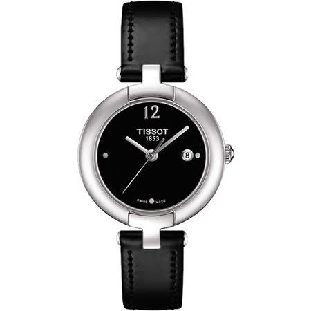 TISSOT Pinky 優雅女仕時尚腕錶-黑 T0842101605700