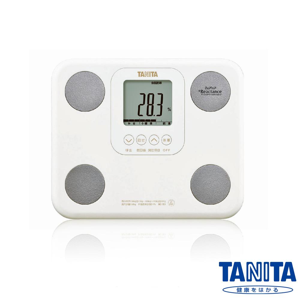 日本TANITA七合一羽量輕巧體組成計BC751-珍珠忠孝 sogo白
