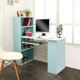 多功能簡約4+2鍵盤書櫃書桌