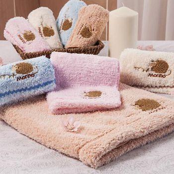 MORINO摩力諾 超細纖維兒童刺繡擦拭浴巾 30*30CM