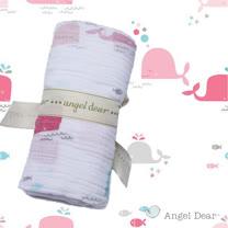 美國 ANGEL DEAR 竹纖維嬰幼兒包巾 (海洋世界-粉色)