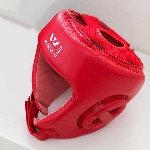 【九日山】拳擊散打泰拳專用護具配件-紅色護頭套-太平洋 sogo 天母 店M