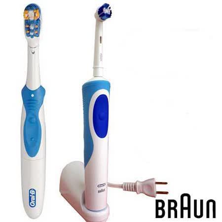 德國百靈 新一代-動感超潔電動牙刷(D12013N)+電池式電動牙刷(B1010)