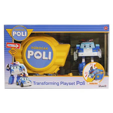【POLI 變形車系列】LED變形波力手提基地 RB83072
