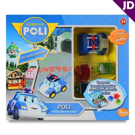 【POLI 變形車系列】波力滾輪印章 RB83018