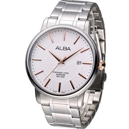 ALBA 雅柏 簡約紳士時尚腕錶 VJ42-X114S AS9761X1