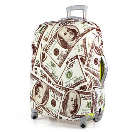 PUSH! 旅遊用品SHOW ME MONEY行李箱拉桿箱登機箱彈力保護套防塵套24寸