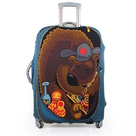 PUSH! 旅遊用品俄羅斯娃娃熊行李箱彈力保護套24寸