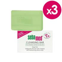 Sebamed施巴5.5 潔膚皂 100g*3