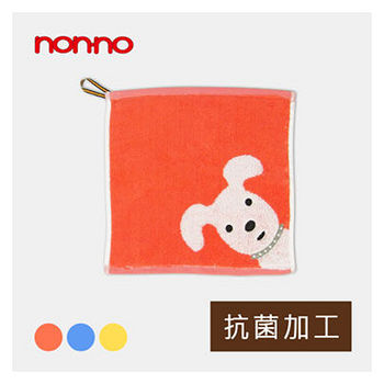 NON-NO無撚紗天狗方巾-桔色