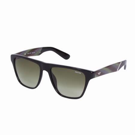 POLICE 都會時尚造型太陽眼鏡 (迷彩綠) POS1796-700V