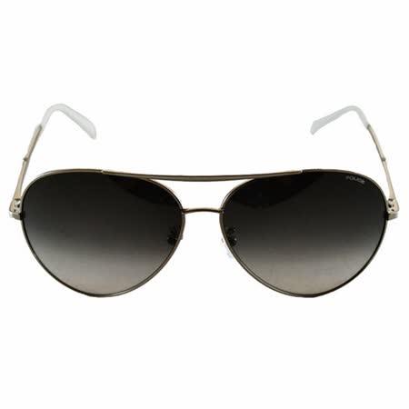 POLICE 飛行員太陽眼鏡★金屬大框面時尚必備★ (黑+白) POS8585-0528