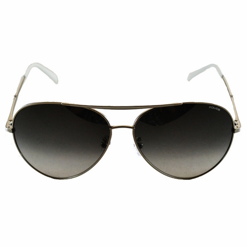 POLICE 飛行員太陽眼鏡~金屬大框面 ~ ^(黑 白^) POS8585~0528