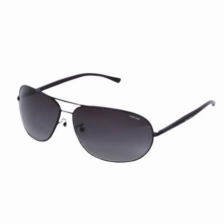 POLICE 都會時尚經典飛行員造型太陽眼鏡 (消光黑) POS8691-0531