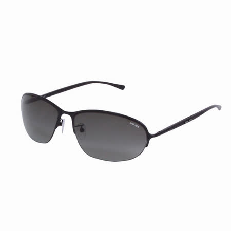 POLICE 都會時尚經典飛行員造型太陽眼鏡 (消光黑) POS8692-0532
