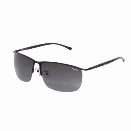 POLICE 都會時尚經典飛行員造型太陽眼鏡 (消光黑) POS8693-0533