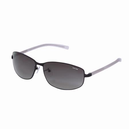 POLICE 都會時尚經典飛行員造型太陽眼鏡 (黑+白)POS8697-531X