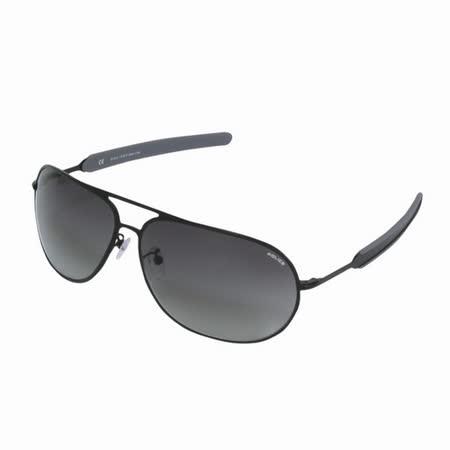 POLICE 都會時尚經典飛行員造型太陽眼鏡 (消光黑) POS8736-531X