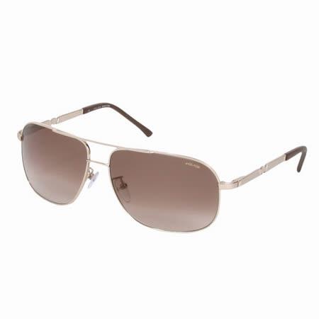 POLICE 都會時尚經典飛行員造型太陽眼鏡 (金) POS8747-0349