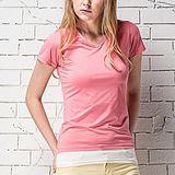 《MORINO摩力諾》抗UV速乾女短袖衫-粉紅M~L
