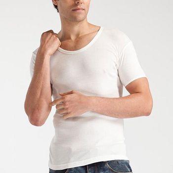 TELITA 型男純棉短袖衫 (白)
