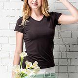 《MORINO摩力諾》抗UV速乾女短袖衫-黑色M~L