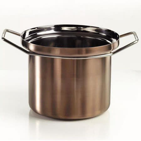 義大利【KnIdustrie】肯廚-『FoodWear食同系列』26公分不鏽鋼雙耳深燉湯鍋(含蓋)