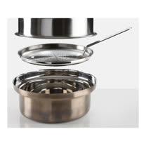 義大利【KnIdustrie】肯廚-『FoodWear食同系列』26公分不鏽鋼蒸籠鍋組(含蒸盤/夾子/蓋子)