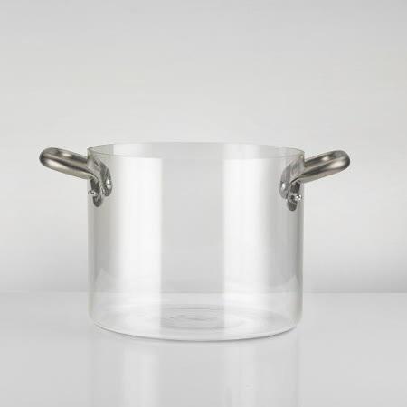 義大利【KnIdustrie】肯廚-『KnPro達人系列』24公分玻璃雙耳深燉湯鍋(含濾網)