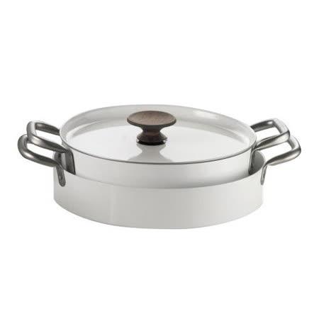 義大利【KnIdustrie】肯廚-『KnPro達人系列』32公分壽喜/海鮮飯雙耳低身煮鍋(含兼盤蓋)