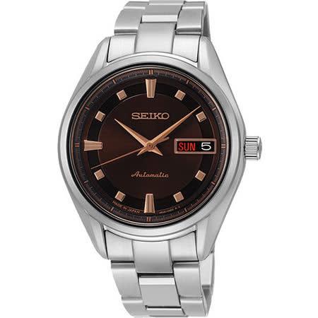 SEIKO Presage 4R36 都會時尚機械女錶-咖啡 4R36-03C0C