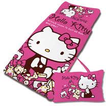 【享夢城堡】超纖單用4X5兒童睡袋-HELLO KITTY 我的遊戲房-粉