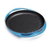 【LE CREUSET】鑄鐵雙耳圓烤盤25cm (馬賽藍)