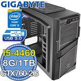 技嘉H97平台【戰極龍吟】Intel第四代i5四核 GTX760-2G獨顯 1TB燒錄電腦