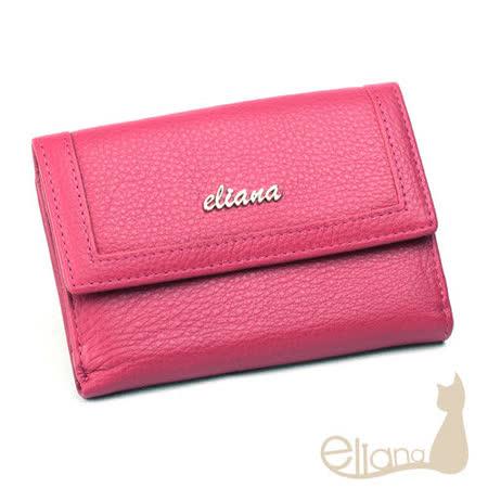eliana 小牛皮11卡雙層中夾(桃紅色)EN127W03PK