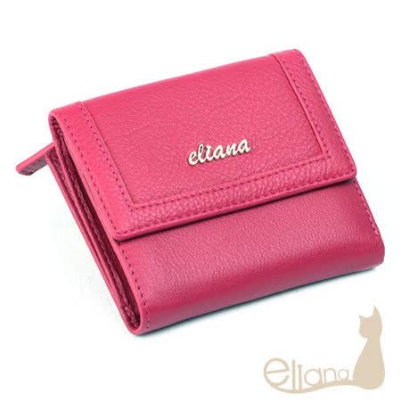 eliana 小牛皮18卡短夾(桃紅色)EN127W04PK