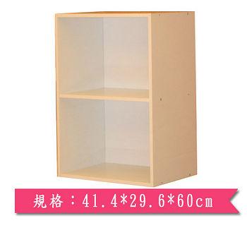 二層收納櫃-白楓木色(41.4*29.6*60cm)