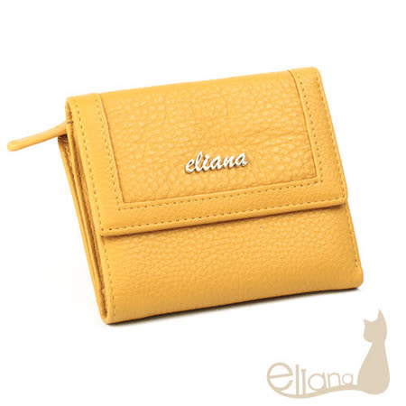 eliana 小牛皮18卡短夾(黃色)EN127W04YL