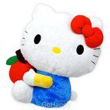 日本進口SANRIO Hello Kitty【蘋果咬一口】柔軟玩偶
