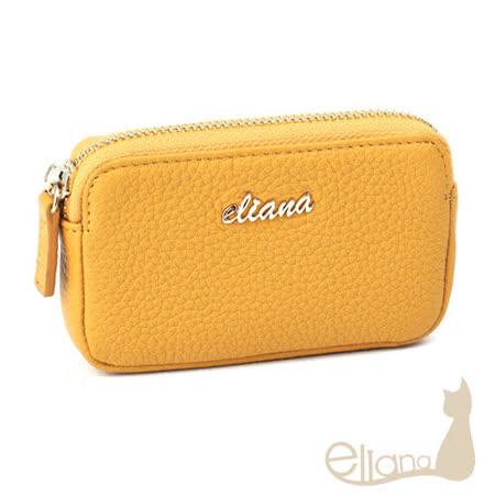 eliana 小牛皮拉鍊零錢包(黃色)EN127W05YL