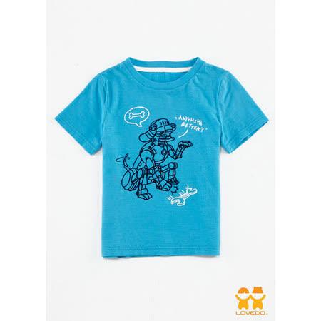 【LOVEDO艾唯多童裝】機器狗短袖T恤(藍)