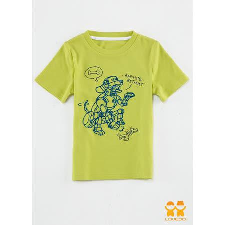 【LOVEDO艾唯多童裝】機器狗短袖T恤(螢光綠)