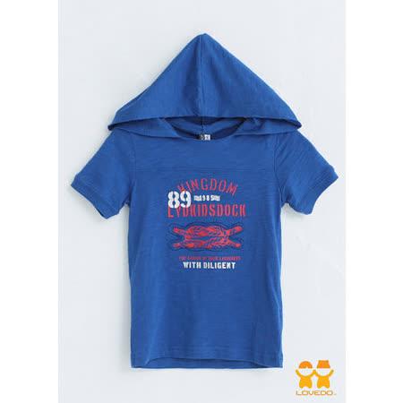 【LOVEDO艾唯多童裝】航海水手經典帽T (深藍)