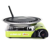 K-ONE卡旺-777攜帶式卡式爐K1-777S + 超級燒烤盤K1BQ-007