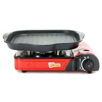 K-ONE卡旺-攜帶式卡式爐K1-111V + 韓國HANARO火烤兩用方形烤盤