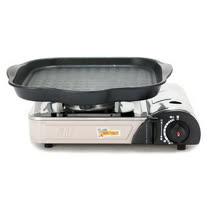 K-ONE卡旺-遠紅外線瓦斯爐K1-1200V + 韓國HANARO火烤兩用方形烤盤