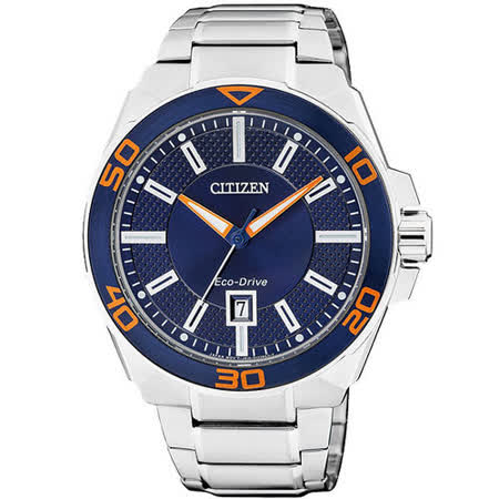 CITIZEN Eco-Drive 時間迴廊光動能腕錶(藍/42mm) AW1191-51L