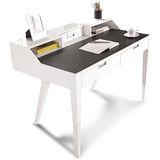 日式量販 多功能4尺鋼琴烤漆白色書桌