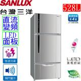 三洋 SANYO 528公升直流變頻三門冰箱 SR-A528CV3